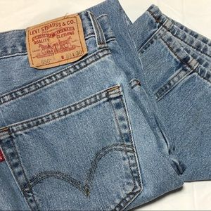 Levi 550 33x30 Relaxed Fit Blue Jeans
